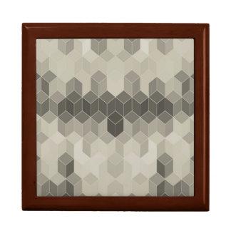 Grey Scale Cube Geometric Design Gift Box