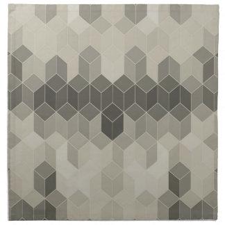 Grey Scale Cube Geometric Design Napkin