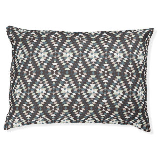Grey scale Geometric Pattern Large Pet Bed