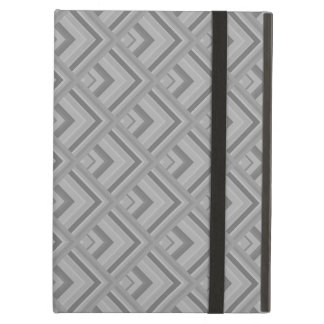 Grey scale pattern iPad air cover