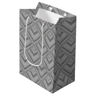 Grey scale pattern medium gift bag