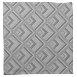 Grey scale pattern napkin