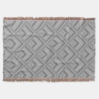 Grey scale pattern throw blanket