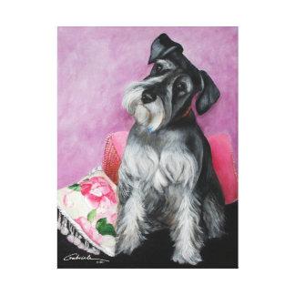Grey Schnauzer Canvas Print