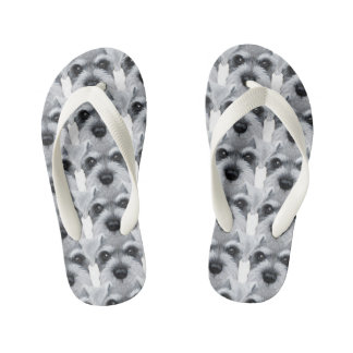 Grey Schnauzer Kid's Thongs