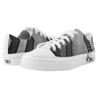 Grey Sci-fi Design Low Top Shoes