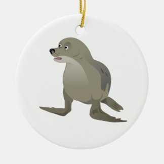 Grey Seal Ceramic Ornament