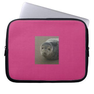 Grey seal pup. Cute seaside baby Laptop Computer Sleeve