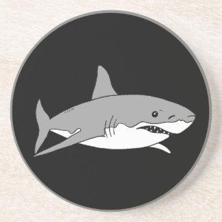 Grey shark coaster