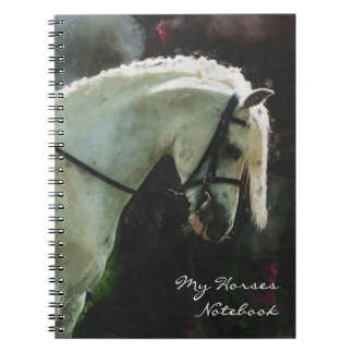 Grey show pony spiral note book
