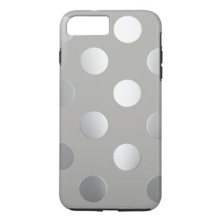Grey, Silver Polka Dots iPhone 8 Plus/7 Plus Case
