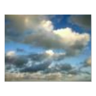 Grey Skies 11 Cm X 14 Cm Invitation Card