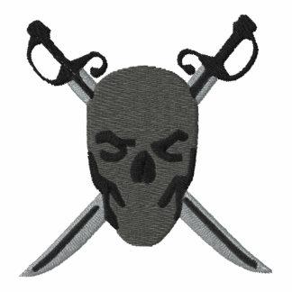 Grey Skull & Swords Pirate Design