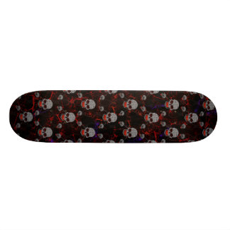 Grey Skulls And Chains Skate Board