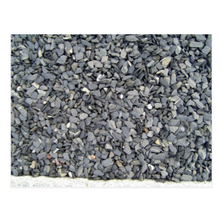 Grey Slate Chips Texture Postcard