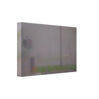 Grey smoke screen canvas print