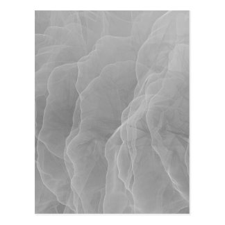 Grey Smoke Wispy Carbon Abstract Pattern Postcard