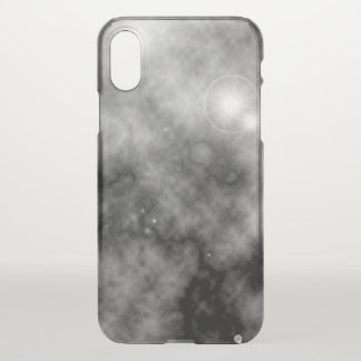 Grey Space Nebula and Supernova iPhone X Case