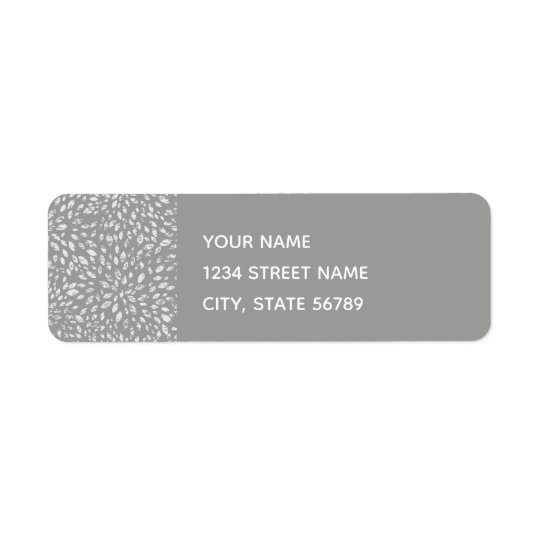 Grey Splash Return Address Label