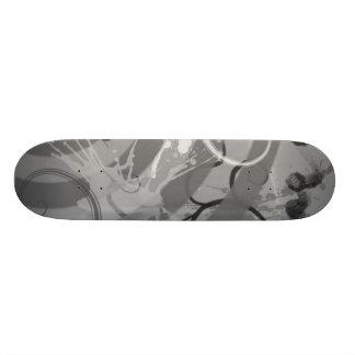 Grey Splatter Skate Deck