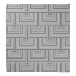 Grey square scales bandana