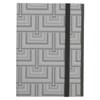 Grey square scales iPad air case