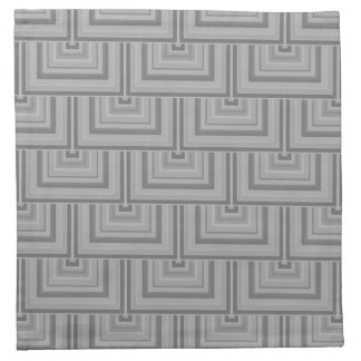Grey square scales napkin