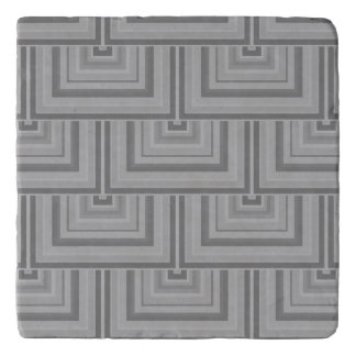 Grey square scales trivet