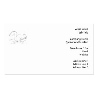 Grey Squirrel, Eating a Nut. Sketch. Business Card
