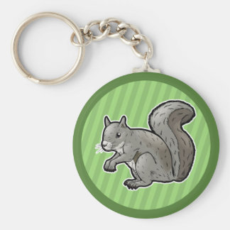 Grey Squirrel Key Ring