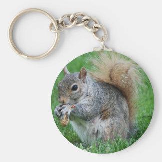 Grey Squirrel Keychain