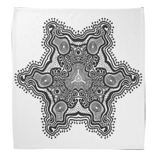 Grey Star Pattern On White Background Bandanas
