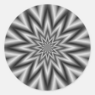 Grey Star  Round Sticker