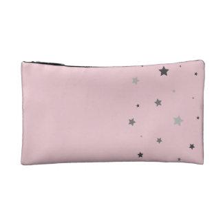 Grey Stars Cosmetic Bag
