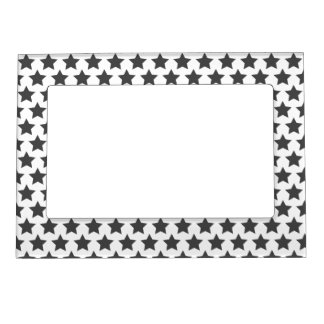 Grey Stars Pattern | Valetine's Day Magnetic Picture Frame