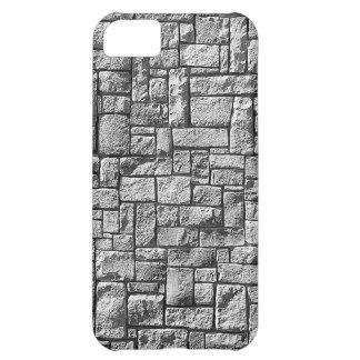 Grey stone wall iPhone 5C case