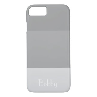 Grey Stripe Monogram Name Customize iPhone 8/7 Case