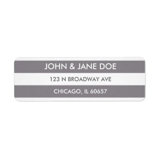 Grey striped return address label
