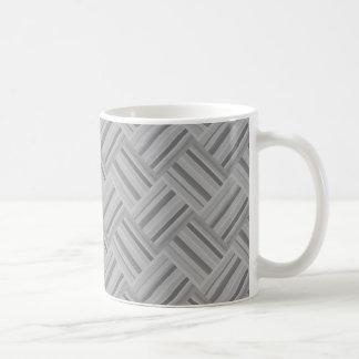 Grey stripes diagonal weave pattern coffee mug
