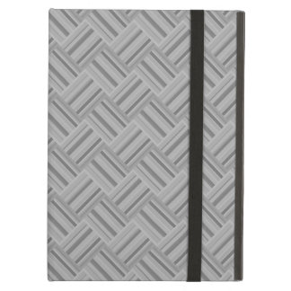 Grey stripes diagonal weave pattern iPad air cover