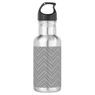 Grey stripes double weave pattern 532 ml water bottle