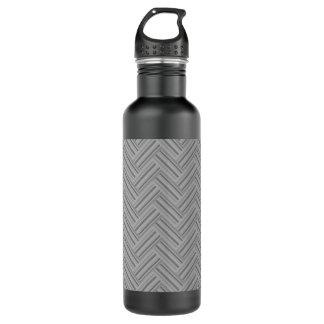 Grey stripes double weave pattern 710 ml water bottle
