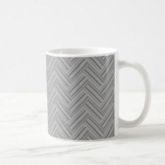 Grey stripes double weave pattern coffee mug