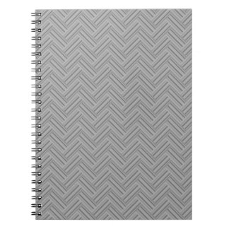 Grey stripes double weave pattern notebooks