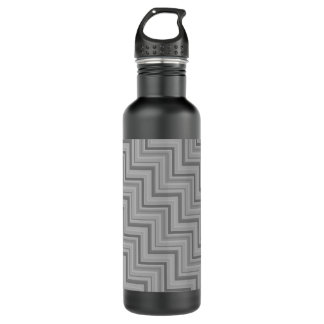 Grey stripes stairs pattern 710 ml water bottle