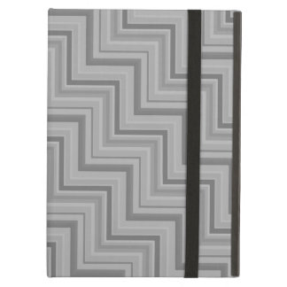 Grey stripes stairs pattern cover for iPad air