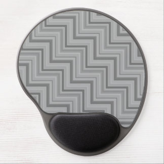 Grey stripes stairs pattern gel mouse pad