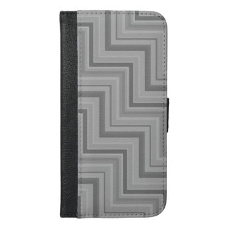 Grey stripes stairs pattern iPhone 6/6s plus wallet case