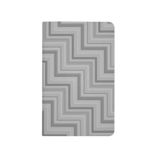 Grey stripes stairs pattern journal