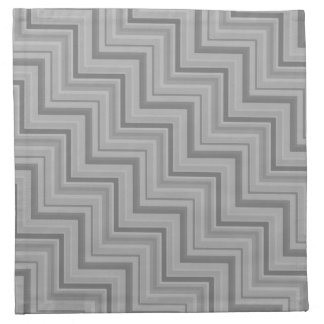 Grey stripes stairs pattern napkin